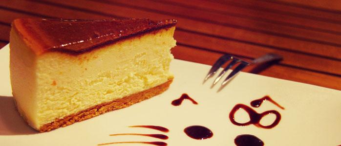 Klassischer Käsekuchen mit Quark und Vanillezucker.