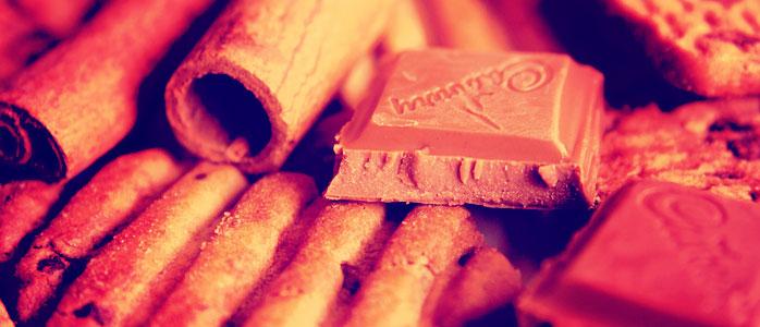 Leckere Törtchen mit Zimt und einer großen Ladung Schokolade