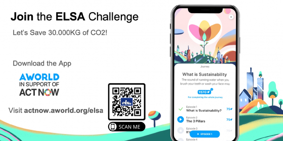 Join the ELSA Challenge - Let's Save 30.000kg of CO2!